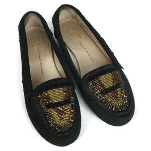 House of Harlow 1960 Millie Beaded Suede Moccasins